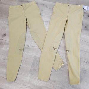 2 pairs Tuffrider breeches 28